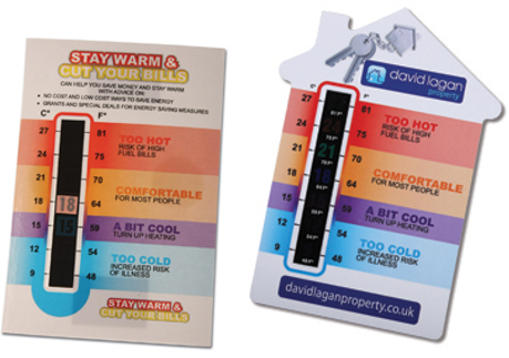 Temperature Gauge Cards make ideal useful promotional gift that the client will retain