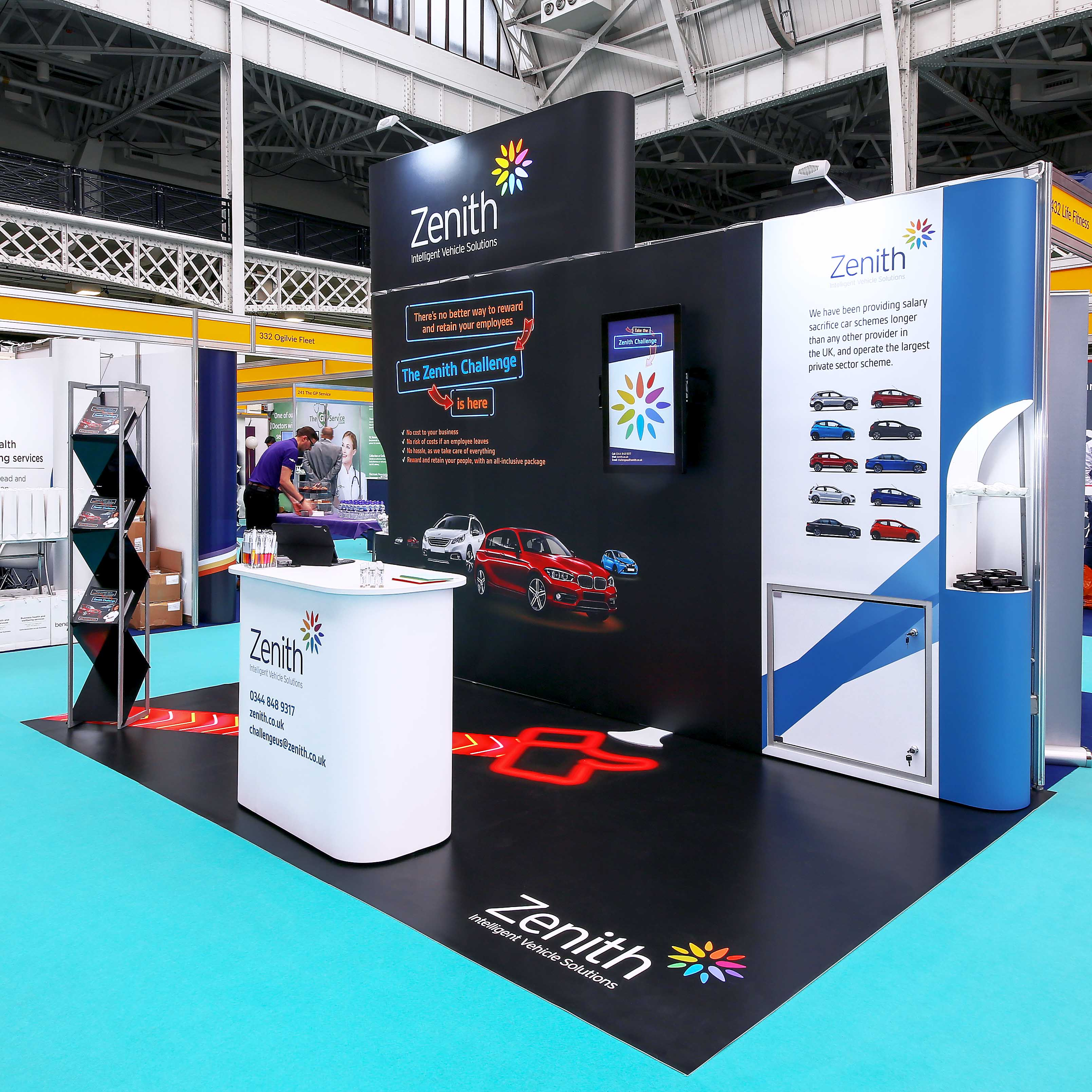 Trade Stands Olympia : How to make a big impact with a small exhibition stand mch